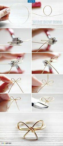 Jak zrobić ładny pierścione...