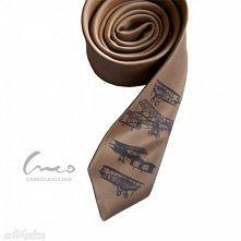 Krawat z nadrukiem retro - samoloty / Crea Gaba Olejnik