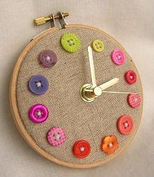 Zegar guzikowy♥