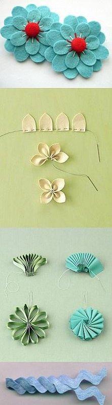 sposób na kwiatki np. do kolczyków albo na broszke