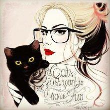 Kobieta z kotem ;)