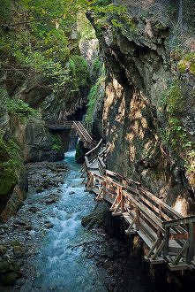 Narrow gorge near Fieberbrunn in Tyrol, Austria