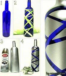 pomysł na dekorowaną butelkę