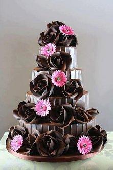 czekoladowe róże