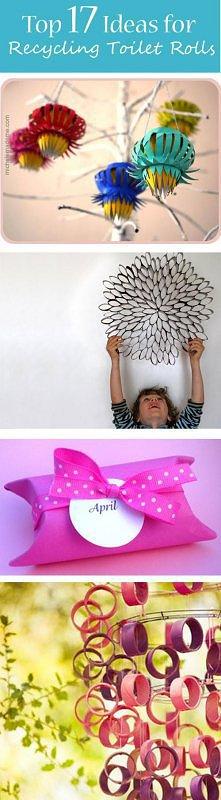 pomysły na dekoracje z rurek po papierze toaletowym