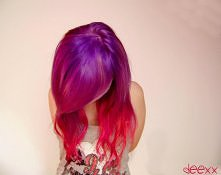 różowo-fioletowe ombre