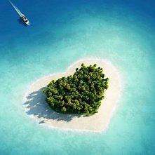 Piekna wyspa z serduszkiem.