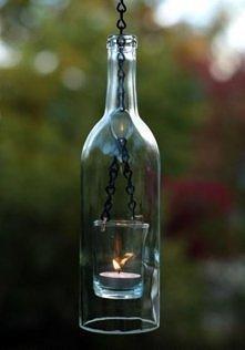 kieliszek + butelka = świec...