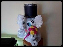 Słoń - origami modułowe, wy...