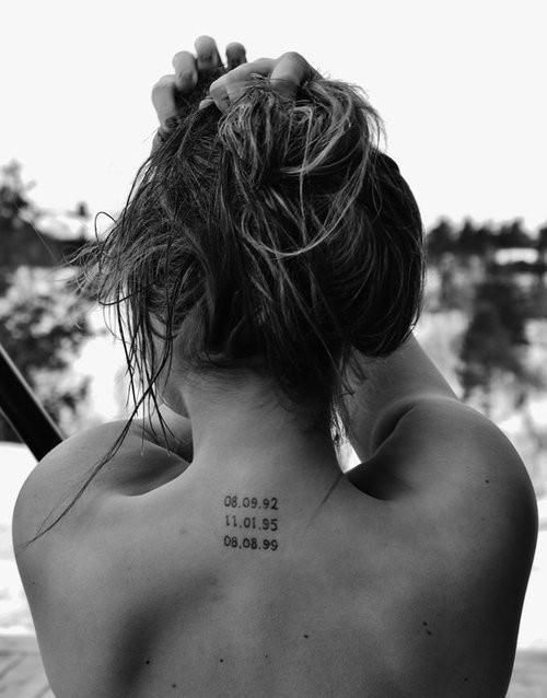 Daty Urodzin Dziecka Na Tattoos Zszywkapl