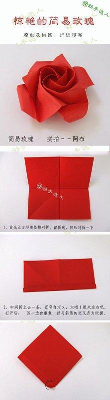 róża origami, ktos i pomoże...