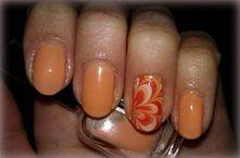 paznokcie pomarańcz
