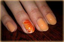 paznokcie pomarańcz 2