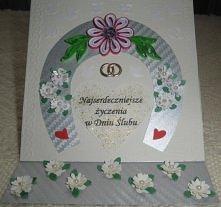 kartka ślubna - moja pierwsza kartka sztalugowa