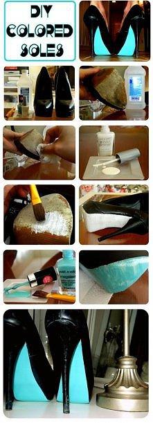 Bardzo ciekawy sposób na przerobienie na buty.
