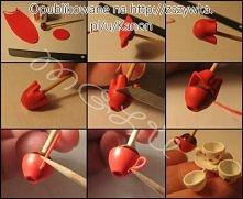 Jak zrobić filiżanki z modeliny.
