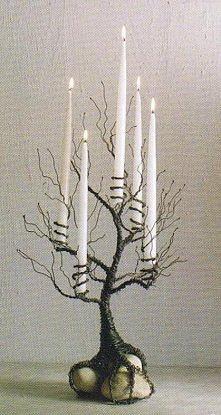 świecznik z drzewa