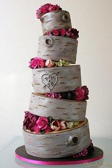 Pomysł na oryginalny tort weselny.