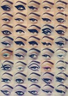 eyeliner - różne propozycje :)