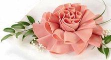 Kwiaty z szynki