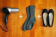 szybkie i łatwe rozciąganie butów:  1. nałóż skarpetki i ubierz buty 2. nagrzej suszarką miejsce, w którym buty są za ciasne jednocześnie napierając stopą 3. poczekaj do ostygni...