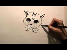 How to draw cartoons. How to draw a Cat
