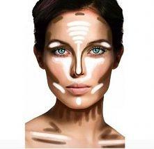 cieniowanie kwadratowej twarzy