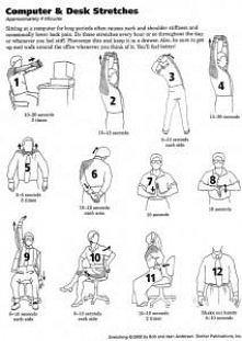 ćwiczenia w biurze