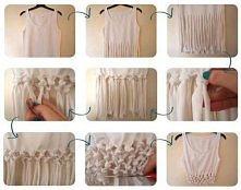 sposób jak zmienić starą bluzkę w coś oryginalnego ;P