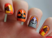 paznokcie na Halloween :D