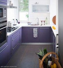 fioletowa kuchnia