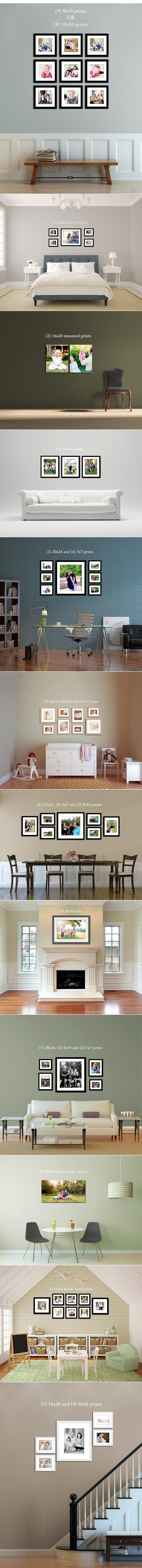 Jak rozmieścić zdjęcia na ścianach by ładnie wyglądały.