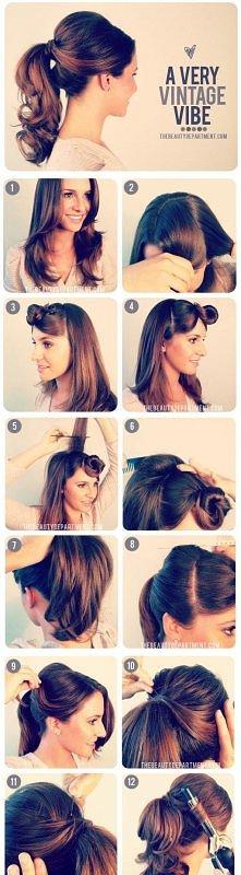 Retro pinup ponytail