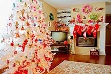 dekoracje świąteczne i biała choinka ;)