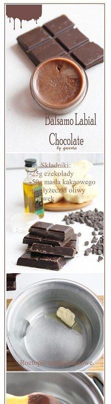 balsam czekoladowy do ust