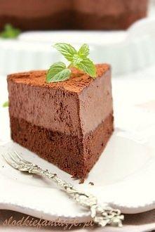 Mus i biszkopt czekoladowy z dodatkiem likieru Baileys