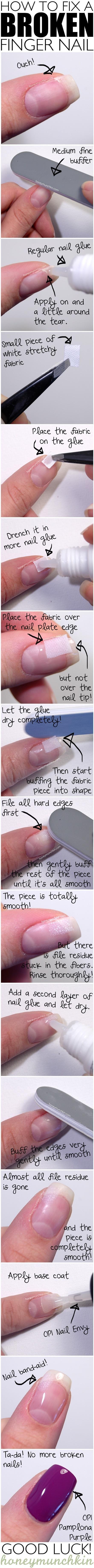 na złamane paznokcie