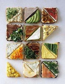 kanapeczki na kolacje ;)