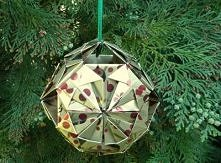 Bombka origami