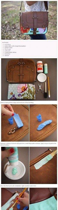 jak przerobić starą torebkę