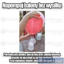Pompowanie balonów
