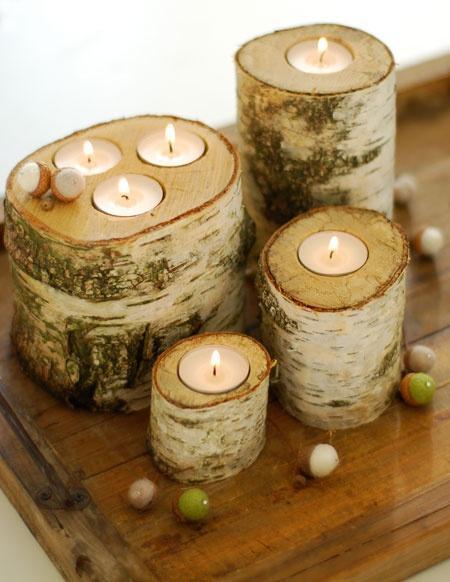 świeczniki z brzozy
