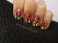 Autumn Ombre Nails