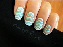 Easy Chevron Nails (no stripers needed!)