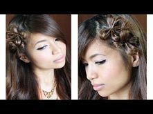 Flower Hair Bow Tutorial for Medium Long Hairstyles
