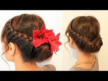 Holiday Braided Updo Hairstyle for Medium Long Hair Tutorial