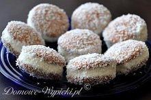 Kuleczki kokosowe  Składniki: biszkopty okrągłe 300g słodkiej śmietany 30% 2 ...