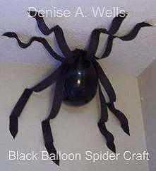 Pająk z czarnego balona na ...