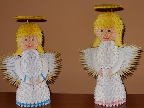 aniołki na bożonarodzeniowy stół ;]