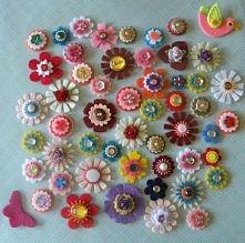 Filcowe kwiaty DIY